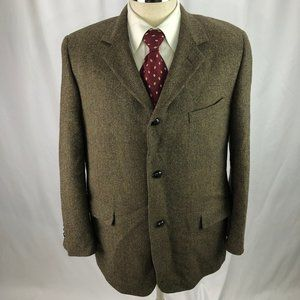 Brooks Brothers Men's Brown Wool Blaze 42R